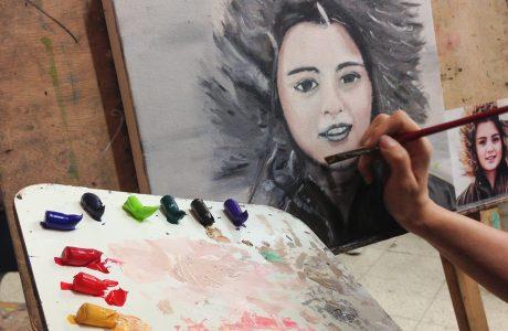 סדנת ציור פורטרט בצבעי שמן לנוער